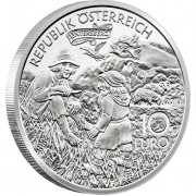 "Silver Coin CHARLEMAGNE IN SALZBURG 2010 ""Tales and Legends of Austria"" Series"