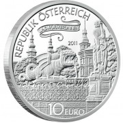 "Silver Coin THE LINDWORM OF KLAGENFURM 2011 ""Tales and Legends of Austria"" Series"