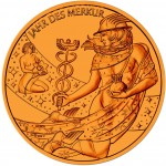 Gold-plated Bronze CALENDAR MEDAL 2012