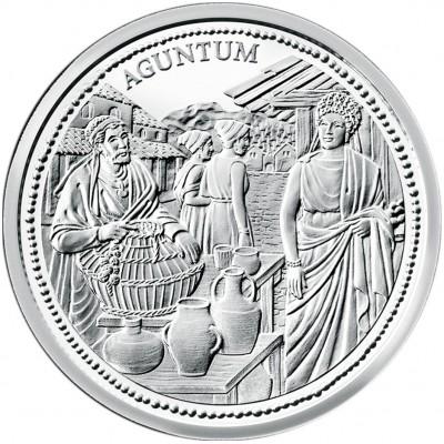 """Silver Coin """"AGUNTUM"""" 2011 """"Romans on the Danube"""" Series"""