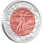 Серебряно - Ниобиевая Инвестиционная монета РОБОТОТЕХНИКА 2011 серии «Ниобиевые Монеты»,  Австрия