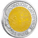 Серебряно - Ниобиевая Инвестиционная монета ГОД АСТРОНОМИИ 2009 серии «Ниобиевые Монеты»,  Австрия