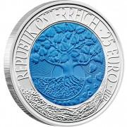 Серебряно - Ниобиевая Инвестиционная монета ВОЗОБНОВЛЯЕМАЯ ЭНЕРГИЯ 2010 серии «Ниобиевые Монеты»,  Австрия