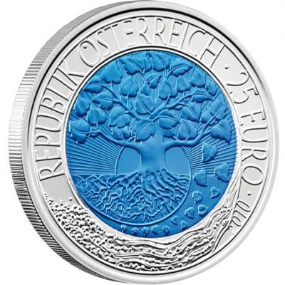 "Silver - Niobium Bullion Coin RENEWABLE ENERGY 2010 ""Niobium Coins"" Series, Austria"