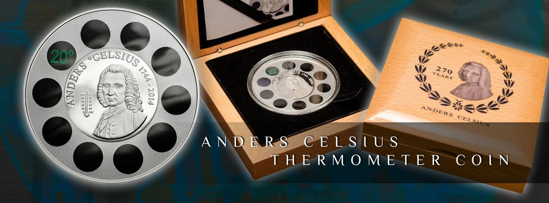 ANDERS CELSIUS THERMOMETER COIN