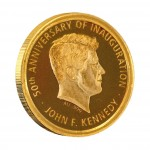 Gold Coin JOHN F. KENNEDY - 50TH ANNIVERSARY OF INAUGURATION 2011, Ivory Coast