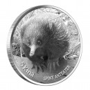 Silver Coin SPINY ANTEATER with Black Diamonds 2012, Papua New Guinea - 1 oz