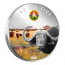 "Copper Silver Plated Colored Coin THE BUFFALO 2010 ""The Big Five"" Series, Ivory Coast"