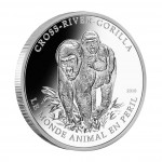 Silver Coin CROSS - RIVER GORILLA 2010, Cameroon - 1 oz