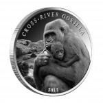 Silver Coin CROSS - RIVER GORILLA 2011, Cameroon - 1 oz