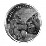 Silver Coin CROSS - RIVER GORILLA (A COUPLE) 2012, Cameroon - 1 oz