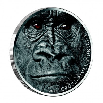 Silver Coin CROSS - RIVER GORILLA 2012, Cameroon - 1 oz
