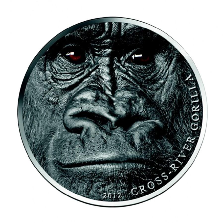 Silver Coin Cross River Gorilla 2012 Cameroon 1 Oz