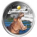 Silver Coin HIPPO with Citrin  2012, Niger