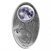 Silver Coin UNICORN with Glass Inlay  2012, Fiji