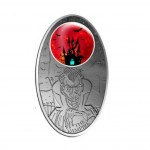 Silver Coin VAMPIRE with Glass Inlay  2012, Fiji