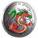 "Silver Colored Coin YEAR OF THE DRAGON 2012 ""Lunar"", Benin - 1/2 oz"