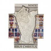 Copper Cross Shaped Silver Plated Coin JESUS CHRISTUS 2011, Congo