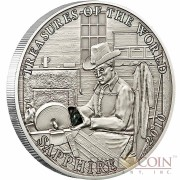 """Silver Coin SAPPHIRE 2010 """"Treasures of the World"""" Series, Palau"""