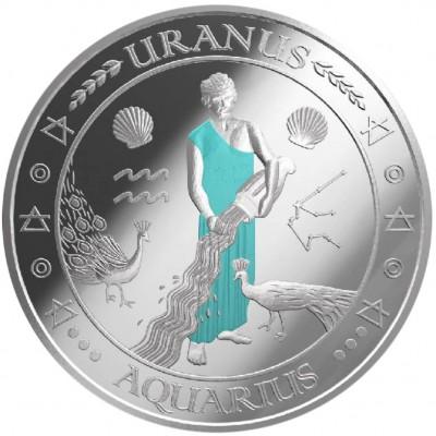 """Silver Coin AQUARIUS 2011 """"Zodiac Signs - Finland"""" Series"""