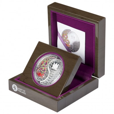 "SNAKE YIN YANG  2013 ""Lunar"" Series Silver Coloured Coin Set"