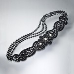 "Necklace ""Flower Black Diamond"" 