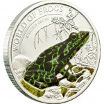 "Silver Coin ATELOPUS CERTUS GREEN 2011 ""World of Frogs"" Series"