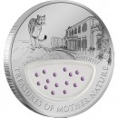 "Silver Coin URUGUAY - THE LAND OF  AMETHYSTS 2012 ""Treasures of Mother Nature"" Series, Fiji"