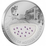 """Silver Coin URUGUAY - THE LAND OF  AMETHYSTS 2012 """"Treasures of Mother Nature"""" Series, Fiji"""