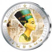 Silver Gilded Coin NEFERTITI  2012, Fiji