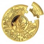 Gold Puzzle Coin JOHANNES 2011,Liberia - 1 kg