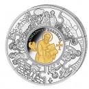 Silver Gilded Coin JOHANNES 2011, Liberia - 1 oz