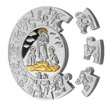 Silver Gilded Coin HOLY MARIA PUZZLE 2010, Liberia - 1 kg