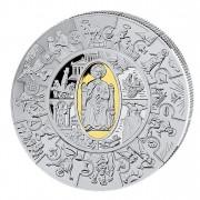Silver Gilded Coin PETRUS THALER PUZZLE 2009, Liberia - 1 kg