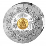 Silver Gilded Coin APOSTLE THALER PUZZLE 2008, Liberia - 1 kg