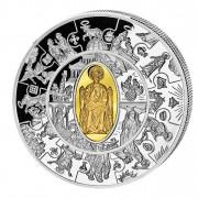 Silver Gilded Coin PETRUS THALER 2010, Liberia - 1 oz