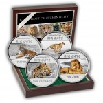 BIG CATS 2011 Four Silver Color Coin Set, Congo