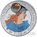 Great Britain Britannia £2 Colored 2010 Silver coin 1 oz