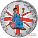 Great Britain Britannia £2 Colored 2011 Silver coin 1 oz