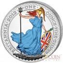 Great Britain Britannia £2 Colored 2012 Silver coin 1 oz