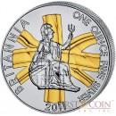 Great Britain Britannia £2 Gilded 2011 Silver coin 1 oz