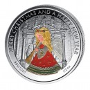 "Silver Colored Coin THE ANGEL, ""Christmas Coins"" Series, Liberia - 1/2 oz"