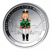 "Silver Colored Coin THE NUTCRACKER, ""Christmas Coins"" Series, Liberia - 1/2 oz"