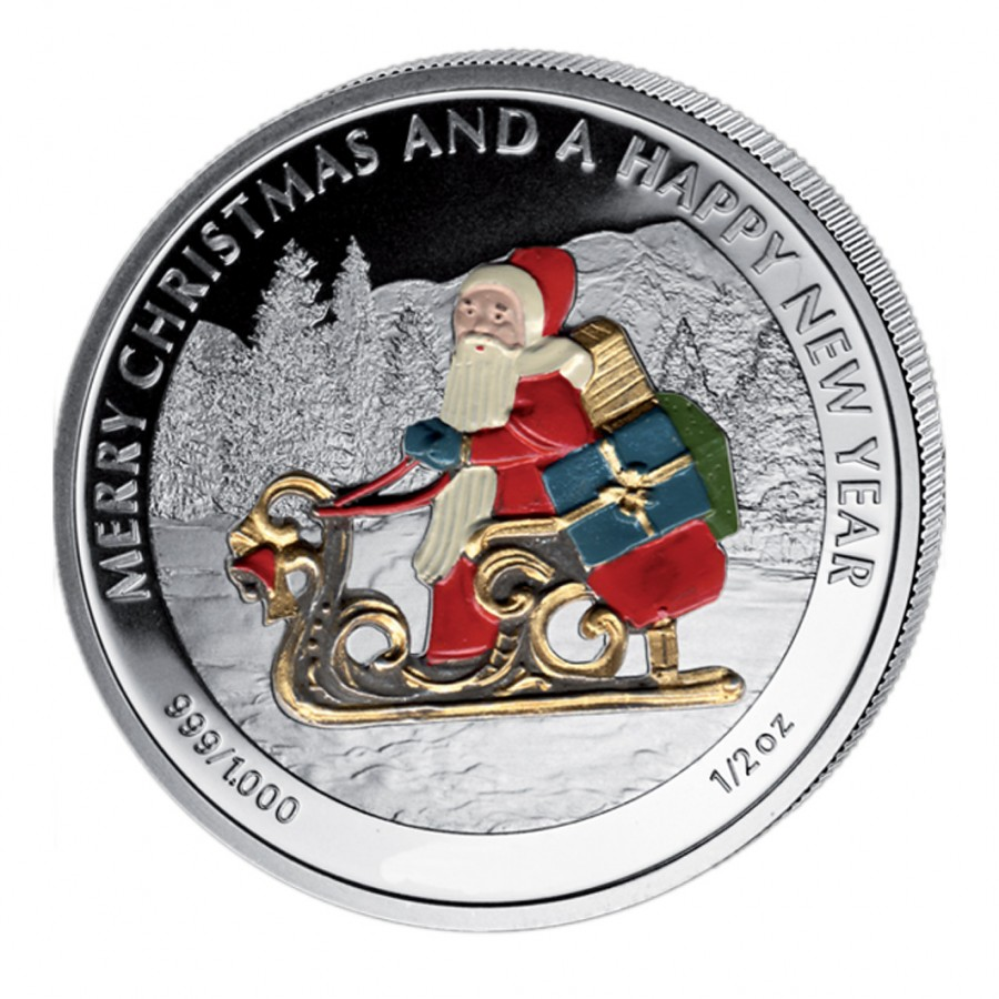 Quot Christmas Coins Quot Series Six Silver Colored Coin Set Liberia