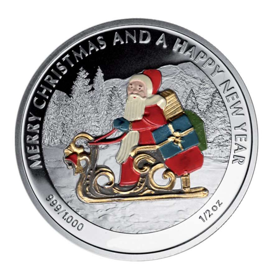 Silver Colored Coin Santa Claus Quot Christmas Coins Quot Series