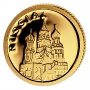 Золотая монета РОССИЯ 2008, Либерия - 1/50 унции
