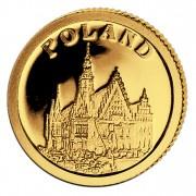 Золотая монета ПОЛЬША 2008, Либерия - 1/50 унции