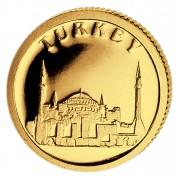 Золотая монета ТУРЦИЯ 2008, Либерия - 1/50 унции