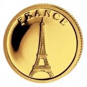 Золотая монета ФРАНЦИЯ 2008, Либерия - 1/50 унции