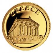Золотая монета ГРЕЦИЯ 2008, Либерия - 1/50 унции